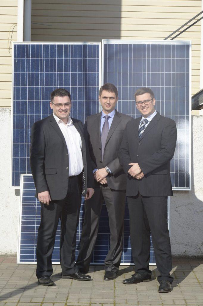 Слева направо: Евгений Ладнич, Дмитрий Лукомский и Дмитрий Ладнич