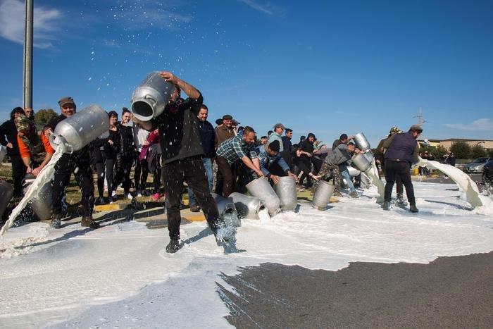df9d8faa273cea Італійські фермери у відчаї виливають молоко на асфальт. Їхня остання надія  – футболісти «Кальярі»